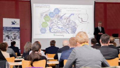 Prof. Christian Brecher sprach auf dem Internationalen METAV-Presseforum über die Herausforderungen der Produktionstechnik., Quelle: Foto Studio Strauch