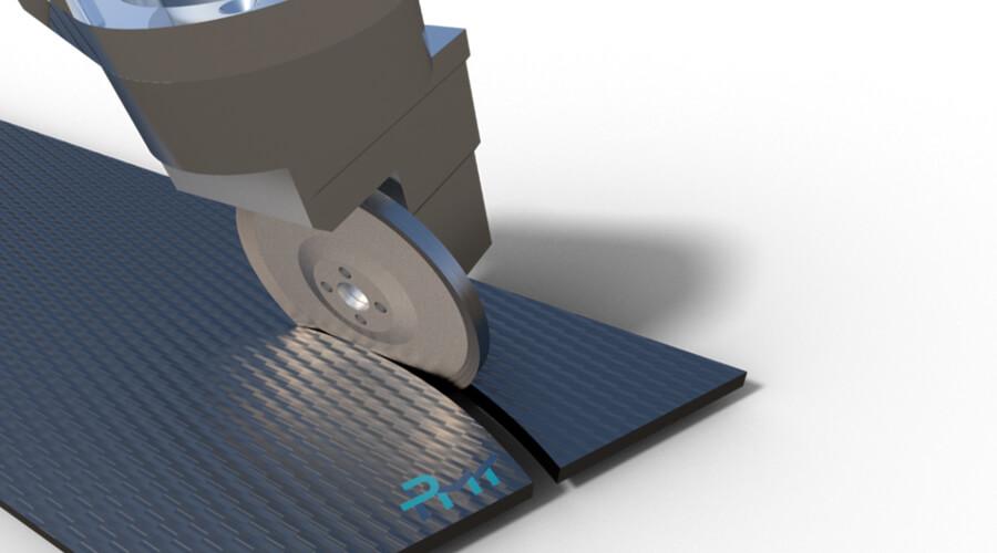 Curved Circular Cutting mit spezieller Trennscheibe - Quelle: Institut für Produktionsmanagement und -technik (IPMT) der TU Hamburg (TUHH)