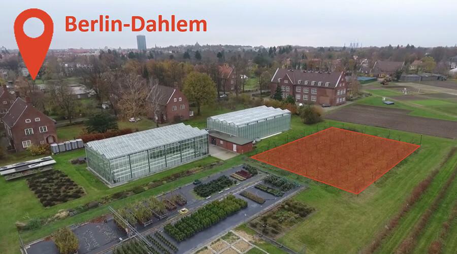 Baugrundstück CUBES Circle an der HU Berlin, Baubeginn 2021 | Quelle: Luftbild: HU Berlin, Prof. Christian Ulrichs