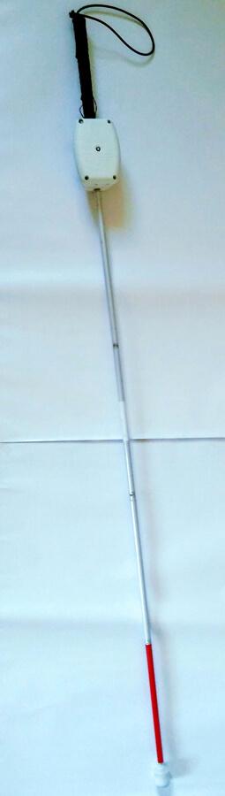 Blindenlangstock mit entwickelter Einheit - Quelle: LaFT