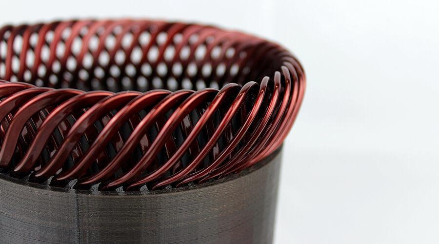 Statormodell mit eingebrachten Hairpins Quelle: wbk Institut für Produktionstechnik